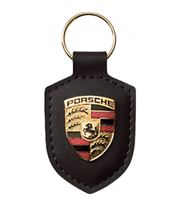 Black Crest Porsche Key Ring