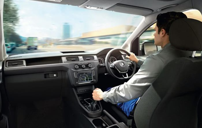Volkswagen Caddy Delivery Van Comfortable Work Station