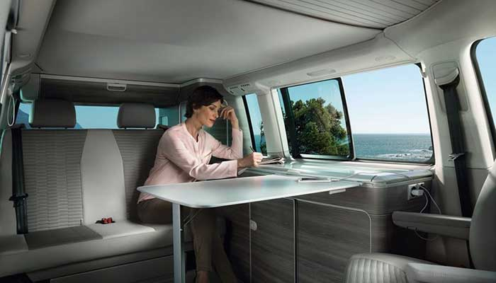 VW California Ocean Interior Cabin